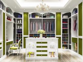 艾依格定制系列-斯里兰卡现代风格衣柜效果图