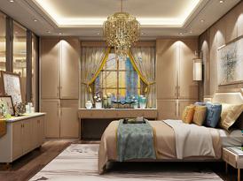 艾依格定制系列-拉菲斯汀中式新古典风格衣柜效果图