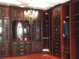 梵帝尼定制系列-巴洛克风格实木衣柜效果图 (5)
