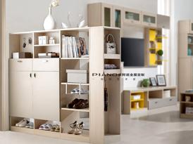 皮阿诺定制系列-花样年华系列优雅气质门厅柜效果图