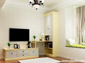 皮阿诺定制系列-卧室组合电视柜效果图