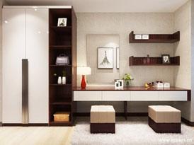 欧派定制系列-卧室整体梳妆台效果图
