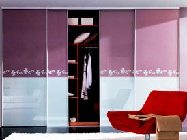 联邦高登定制系列-烤漆玻璃时尚推拉门衣柜效果图