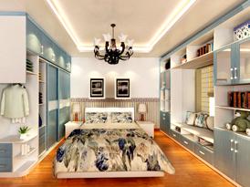史丹利定制系列-地中海风格卧室家具效果图