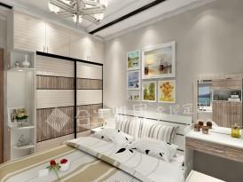 合生雅居定制系列-卧室整体衣柜效果图