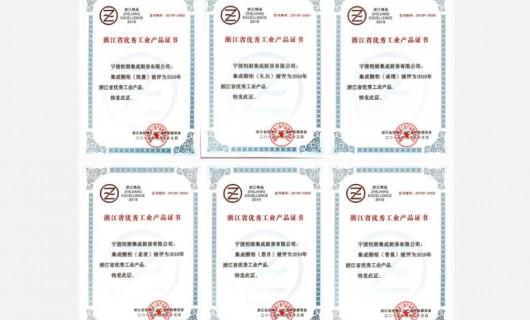 """柏厨斩获""""2019年浙江省优秀工业产品""""大奖"""