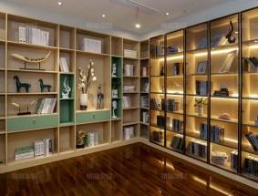 易高定制系列-现代简约系列书房效果图