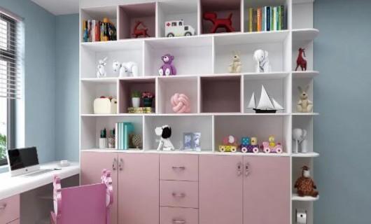 爱瑞德全屋定制:儿童房榻榻米效果图 多功能一体化超省空间