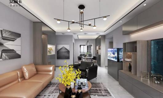 艾瑞卡全屋定制:98平米现代极简 雅灰色调的空间 淡雅大方耐看