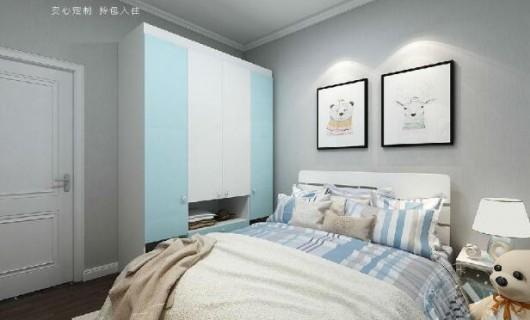 艾瑞卡家居:现代极简家生活 融入一抹蓝 简单却很温馨