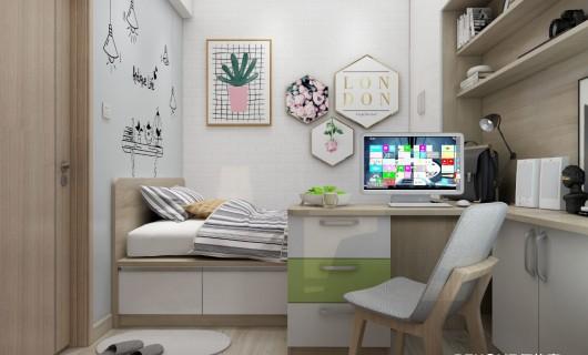 佰怡家全屋定制设计小讲堂:榻榻米+飘窗 将1㎡用出10㎡的效果