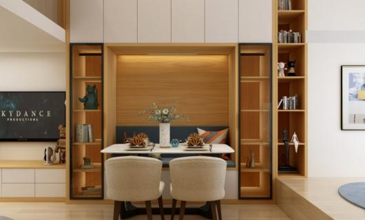 苔花家居:30m²Loft单身公寓 超强的隐藏式收纳设计