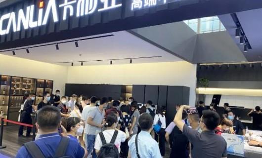 """火爆 广州建博会第三天 卡利亚展厅再现""""人海"""""""