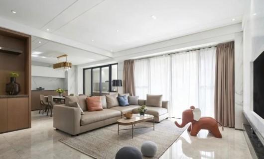 诺维家全屋定制:你家客厅还是沙发+茶几 早过时了 现在都这样装