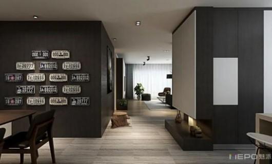 魅派全屋定制:120㎡现代两房 不一样的设计 不要墙体 用它代替