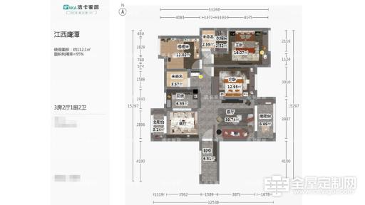 法卡家居:江西客户三室两厅雅居效果展示238
