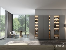 空与间高端定制旷野系列-书柜效果图