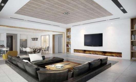 打破客厅常规设计 下沉式沙发增加收纳显层高