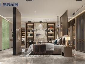 易高定制系列-新中式系列卧室效果图